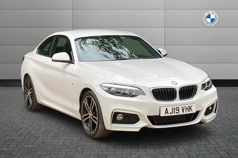 White BMW 2 Series 220d M Sport 2019