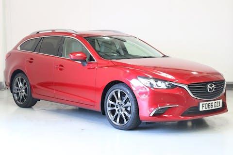 Red Mazda 6 2.2 D Sport Nav 2016