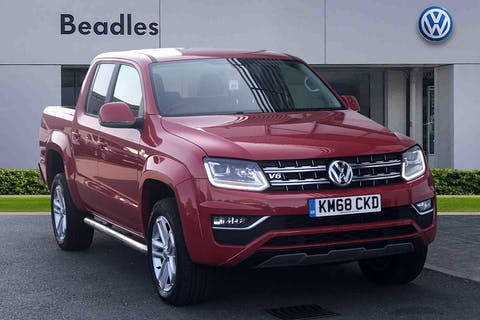 Red Volkswagen Amarok Dc V6 TDI Highline 4motion 2018