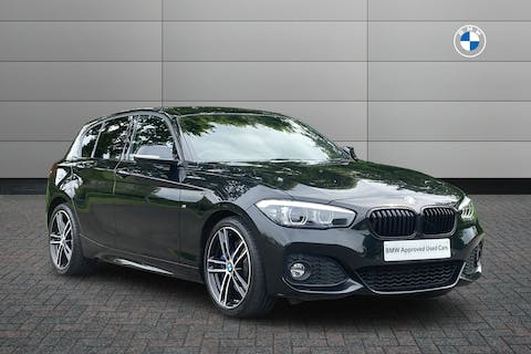 Black BMW 1 Series 120i M Sport Shadow Edition 2018