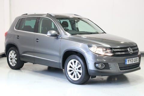 Grey Volkswagen Tiguan 2.0 SE TDI Bluemotion Technology 4motion 2013