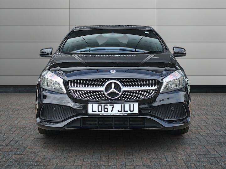 Black Mercedes-Benz A-Class A 200 D AMG Line 2017
